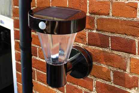 Groupon Goods Global GmbH - One or Two Dawn Till Dusk Black Nickel Smd Solar Powered Wall Lights - Save 74%