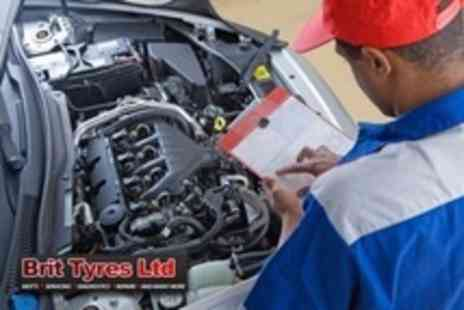 Brit Tyres - MOT and Interim Service - Save 79%