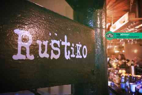 RustiKo - Two course Italian dining for two people with a half pint of beer or small glass of house wine each - Save 63%