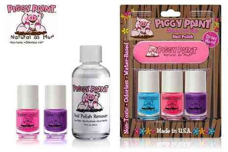 Natmark Distribution - Piggy Paint Mini Polishes Vibrant, Natural and Eco Friendly with Postage Included - Save 32%