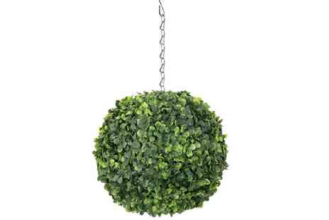 Who Needs Shops - Artificial 28cm hanging topiary tree - Save 72%