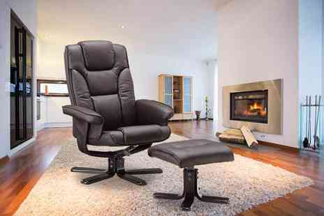 GRS Global - Faux leather recliner and foot stool - Save 66%