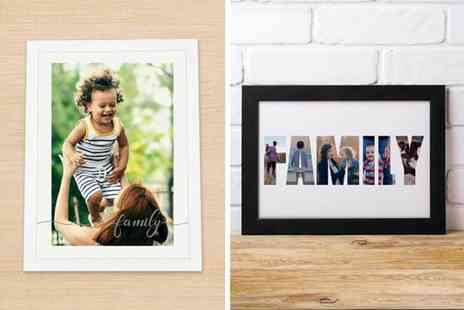 Print My Smile - Personalised family photo poster choose form Two options - Save 57%