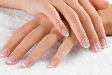 Nelly Nails - Natural Nails Manicure, Shellac Polish on Fingers or Toes or Full Set of Acrylic Nails - Save 17%