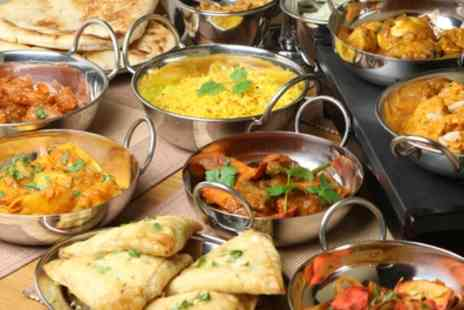 Everest Dine - Two Course Indian Meal with Side and Wine for One, Two or Four - Save 53%