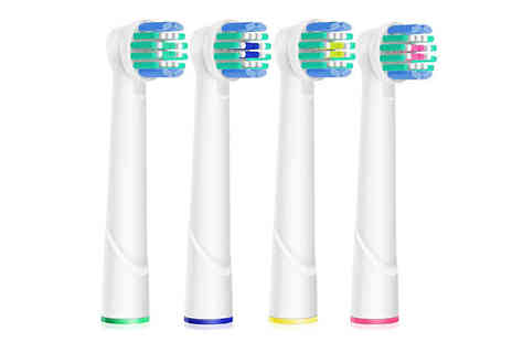 Impress Gadgets - Four Piece OralB Compatible Electric Toothbrush Head Set - Save 70%