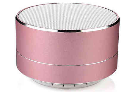 Impress Gadgets - Portable Wireless Speaker with Led Lights Choose Four Colours - Save 73%