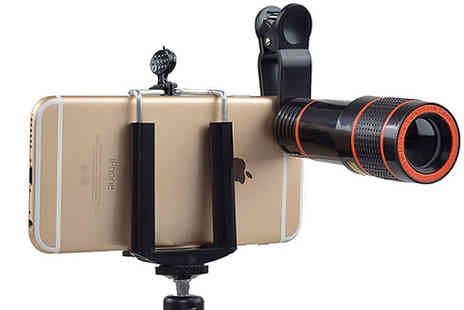Impress Gadgets - 20 x Optical Zoom Lens For Smartphone with Tripod - Save 66%