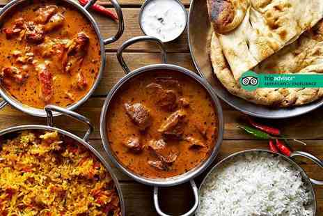 The Raj - Two course Indian dining with poppadums for two - Save 48%