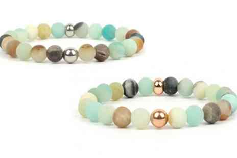 Groupon Goods Global GmbH - One, Two or Four Amazonite Beaded Chakra Bracelets - Save 0%