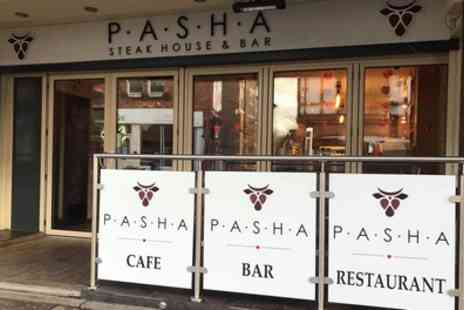 Pasha Steakhouse and Bar - Burger, Fries and Onion Rings for Two or Four - Save 50%