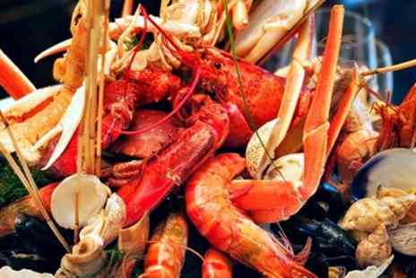 Finest of Fish - Lobster or Crab Seafood Platter with Salad for Two - Save 31%