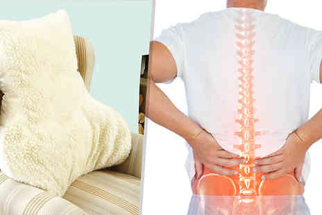 Direct Warehouse - Lumbar Back Support Woolen Posture Pillow Choose 1 or 2 - Save 83%