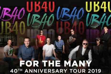 UB40 - One ticket From 10th April To 20th May - Save 25%