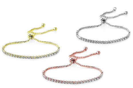 Philip Jones - Solitaire friendship bracelet choose from three colours - Save 55%
