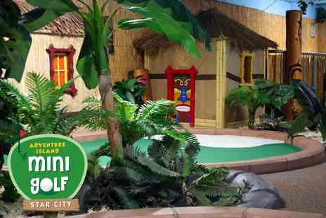 Adventure Mini Golf - 36 holes of adventure island golf for two people - Save 33%