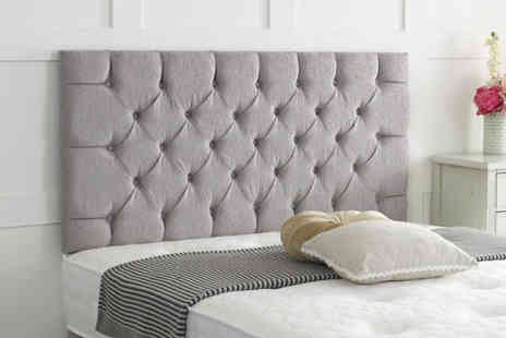 Serenity Designs - Chesterfield chenille headboard - Save 73%