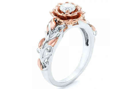 Taylors Jewellery - Rose Style Ring Made with Crystals from Swarovski Choose from 2 Colours - Save 93%