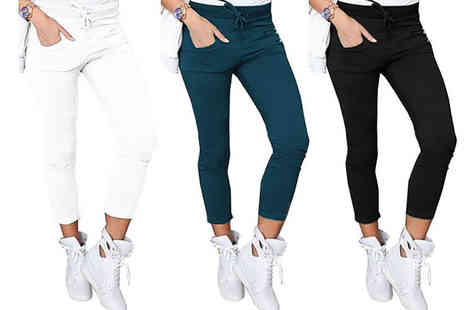 Boni Caro - Pair of high waisted stretch trousers - Save 77%
