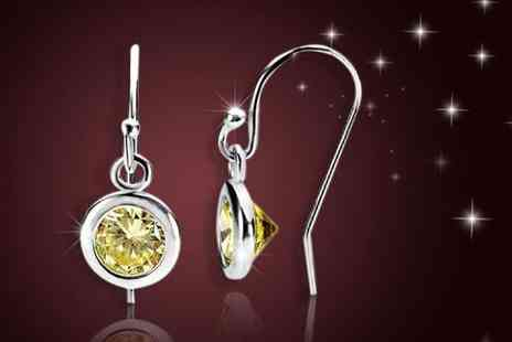 Evoked Design - Pair of peridot drop earrings - Save 90%