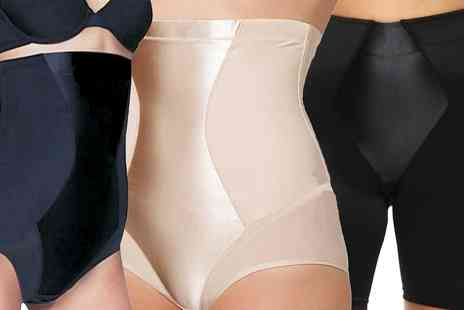 Groupon Goods Global GmbH - Womens Firm Control Underwear with Satin Panel - Save 0%
