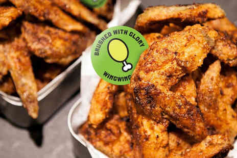 Wing Wing Krispy Chicken - Chicken wings and 4 beers to share between two people - Save 53%