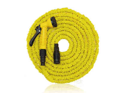 Groundlevel - 15 metre expandable hose and seven dial spray gun - Save 66%