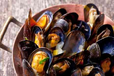 Thistle Poole - Moules Frites with Optional Wine for Two or Four - Save 0%