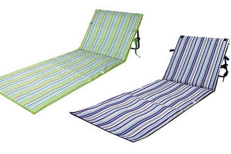 Home Season - Foldable Sun Lounger Mat Choose from 2 Colours - Save 70%