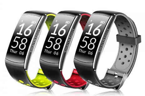 HXT Goods - Q8 Waterproof Smart Watch with Fitness Tracker Available in 3 Colours - Save 88%