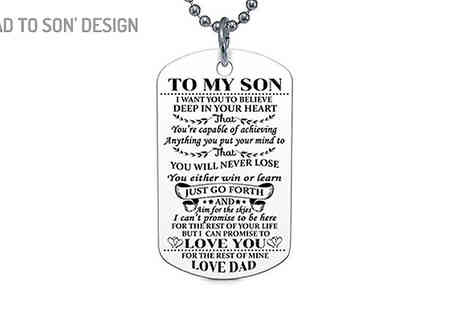 Marcus Emporium - To My Son And To My Daughter Necklace Choose from 4 Designs - Save 57%