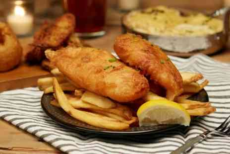The Dolphin - Fish and Chips with Complimentary Drink for Two or Four - Save 27%