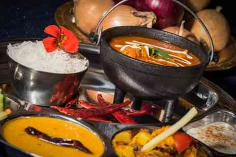 Yukti Indian Street Fusion - Two Course Indian Fusion Meal with Wine for Two or Four - Save 52%