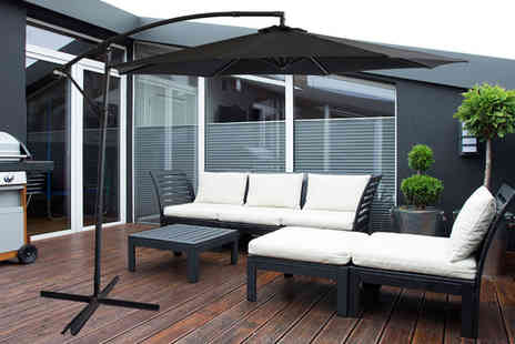 UK Furniture Zone - 3m garden parasol, or £74 for a 3.5m parasol choose from four colours - Save 67%