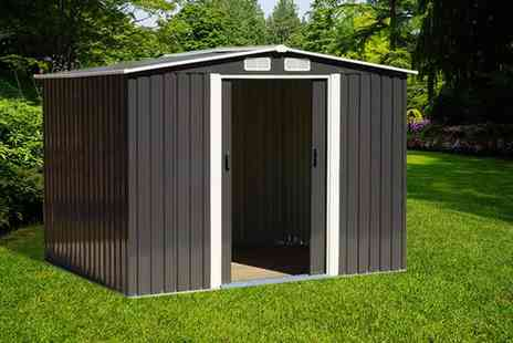 Groundlevel - Large metal storage shed, Extra large storage shed choose from two colours - Save 51%
