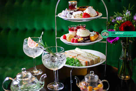 Crowne Plaza London hotel - Afternoon tea for two people with a gin and tonic teapot cocktail each - Save 56%