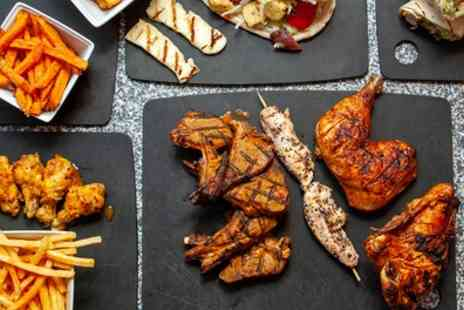 Roosters Grill Shack - Choice of Platter with Bottomless Drinks for Up to Four - Save 33%