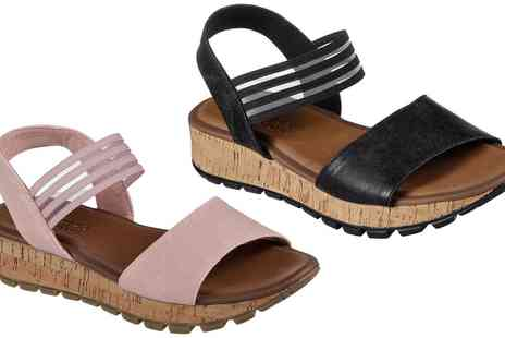 Groupon Goods Global GmbH - Skechers Womens Wedge Sandals - Save 40%