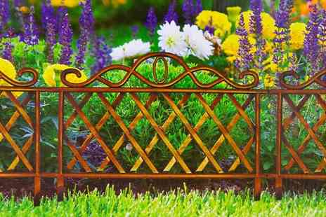 Groundlevel - Set of four bronze effect garden edging panels - Save 62%