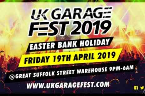 UK Garage Fest 2019 - One ticket with a £5 drinks voucher or five tickets alone from 19th April - Save 27%