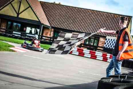 Whilton Mill - Go Kart Racing Experience with Optional Meal and Drink for Up to Eight - Save 50%