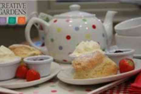 Creative Gardens - Tea or Coffee for 2 with Scones, Cakes or Traybakes - Save 53%