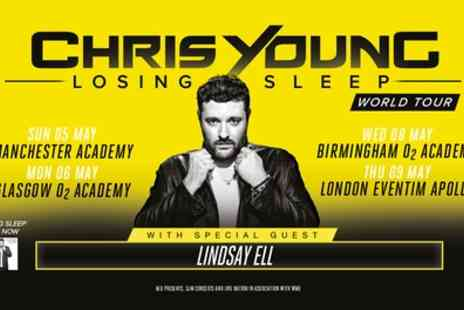 Chris Young - One standing or seated ticket from 5th To 9th May - Save 56%