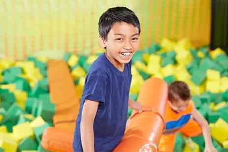 Fun Factory - Soft Play Access for Up to Four Children with One Cold and One Hot Drink Each - Save 46%