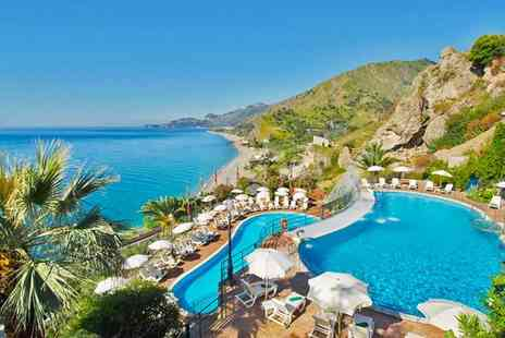Hotel Baia Taormina Grand Palace & Spa - Four Star Breathtaking Coast Escape for two - Save 69%