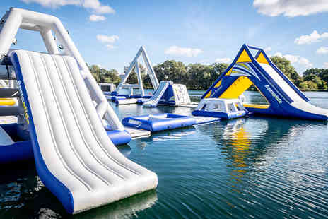 Aqua Bounce - One hour water park session with wetsuit hire for one - Save 25%