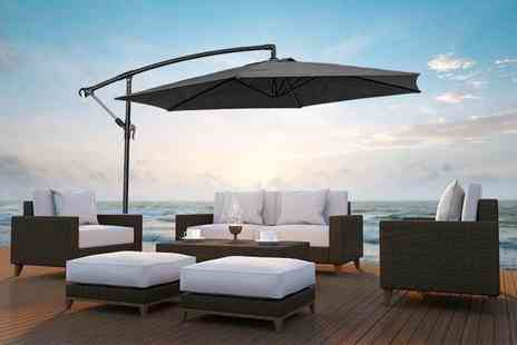 UK Furniture Zone - Two metre garden parasol, 2.7 metre parasol choose from three colours - Save 0%