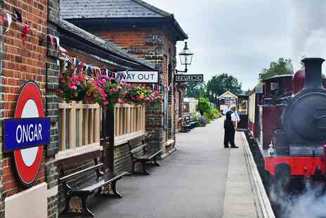 Eping Ongar Railway - Scenic steam train trip - Save 32%