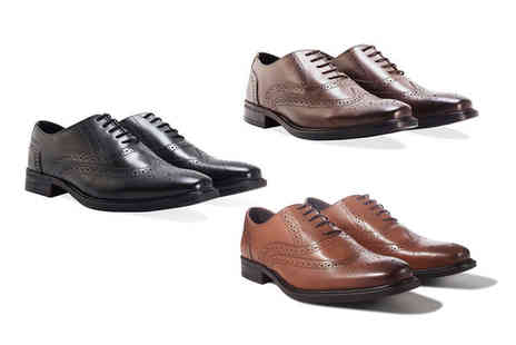 Redfoot - Pair of mens leather brogues - Save 81%