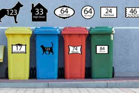 CNC Group - Six Personalised Wheelie Bin Stickers - Save 82%